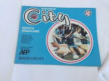 Manchester City v Notts County League Division 1  May 1982