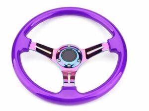 """14"""" (350mm) Purple ABS Steering Wheel  Fit 6 hole Hub Like Vertex Nardi Momo NRG"""