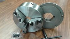 "10"" 3-JAW SELF-CENTERING LATHE CHUCK top&bottom jaws w. L1 back adapter plate"
