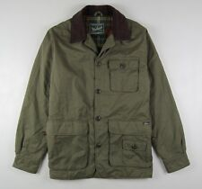 Woolrich Flannel Lined Cargo Jacket Men's Medium Olive