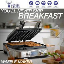 Waffle non stick electric machine commercial new stainless steel plates egg