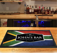 Personalised South African Flag Beer Label Bar Runner Pubs & Clubs