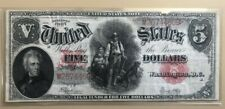 1907 $5 five dollars United States Note legal tender woodchopper