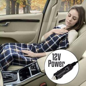 NEW 12V HEATING TRAVEL BLANKET SOFT COZY WARM WINTER CAR POWER SOCKET CONTROL
