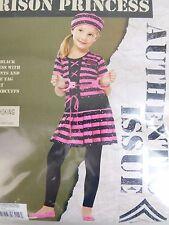 Fun World Pink Prison Princess Girl's Jail Bird Halloween Costume Size XL 14-16