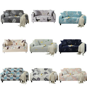 1-4 Seater Sofa Cover Elastic Slipcover Couch Protector Polyester Home Office
