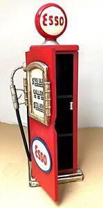 Retro Petrol Pump Esso Cabinet Storage CD DVD  Art Deco Shabby Chic