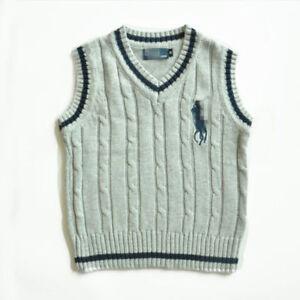 coat 100% Cotton kids Tank Top Boys Girls Children's Knit Tank Top waistcoat 1-6