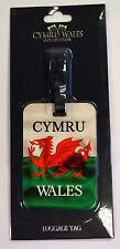 WALES, WAVY FLAG design   LUGGAGE TAG , Cymru, Welsh