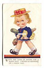 Vera Paterson - girl, shopping - 197 used artistic postcard