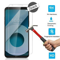 2 x 100% Genuine Tempered Glass Film Screen Protector Guard For LG Q6 G6