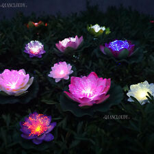 5pcs waterproof Artificial LED optic fibre Lotus Flower Lily Floating Fish Pond