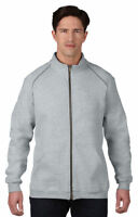 Gildan Men's Rolled Forward Shoulders Full Zip Pouch Pocket Fleece Jacket. 92900