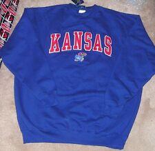 NEW NCAA Kansas Jayhawks Crew Sweatshirt Men XL X-Large NEW NWT