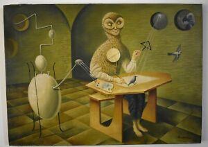 Nice Remedios Varo, painting surrealism style, signed