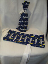 "San Diego Chargers NFL Hand Made Cotton Fabric 15""x6.5"" Wine/Gift Bag Cover NEW"