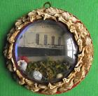 c1915 CUNARD RMS LUSITANIA Post Sinking Domed Glass SAILORS VALENTINE PLAQUE