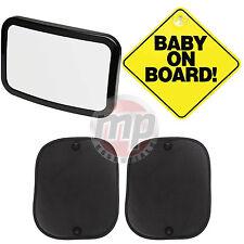 Bebé a bordo de signo, ventana sombrillas y Niño Asiento de Coche Kit De Seguridad De Coche Espejo -