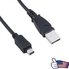 USB DC Battery Charger+Data SYNC Cable Cord For Olympus Stylus TG-830 iHS Camera