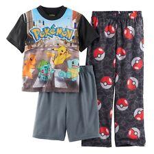Pokemon Pikachu And Friends City Life 3-Piece Pajama Set Size 12 NWT $36 RV