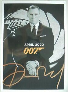 "Daniel Craig orig. Autogramm ""JAMES BOND 007 ""  Motiv 13x18  NO TIME TO DIE"