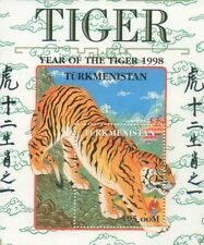 CHINESE HOROSCOPE YEAR OF THE TIGER TURKMENISTAN 1998 MNH STAMP SHEETLET