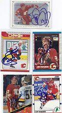 1989 OPC #206 Jim Peplinski Calgary Flames Autographed Signed Card