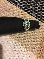 Blue and Green Apatite 14K Ring