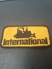 Vtg Heavy Construction Machinery INTERNATIONAL BULLDOZER Patch.Yellow/Black Logo