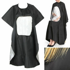 Hair Cutting Gown Cape With Viewing Window Hairdresser Apron Pro Salon Barber