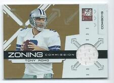 2010 Donruss Elite Tony Romo Zoning Commission GU JERSEY RELIC 250/299 COWBOYS