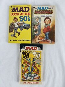 MAD 3 Book Lot Look At The 50's Book of Mysteries 3 Spy vs Spy All 1st Printings