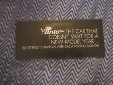 "1971 FORD PINTO ""CAR THAT DOESNT WAIT FOR NEW YEAR"" ORIGINAL SALES BROCHURE"