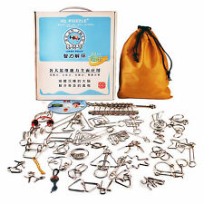 30PCS Classic Metal Puzzle IQ Magic Wire Brain Teaser for Adults Kids Gifts