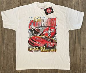 Vintage NASCAR 1998 DALE EARNHARDT Coca-Cola TShirt NEW IN PKG XL FREE SHIPPING