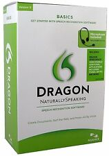 Dragon Naturally Speaking Basics - Version 11 Speech Recognition Software - NEW