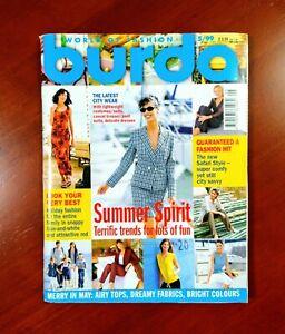 Burda Moden Style Magazine English Supplement with Patterns May 1999