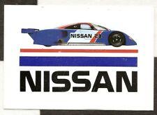 NISSAN MOTORSPORT NISMO R89 C LE MANS 1990 ORIGINAL PERIOD STICKER AUTOCOLLANT