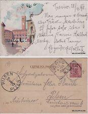 # TREVISO: 1898 - SALUTI DA  - PIAZZA DEI SIGNORI