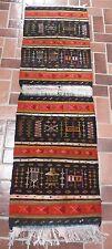"Wool Tribal Weaving Carpet from Ghardaia, M'zab Valley Algeria (App 66"" X 20.5"")"