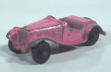 "Vintage Tootsietoy MG Roadster Scale Model 2"" Die Cast Car Pink ."