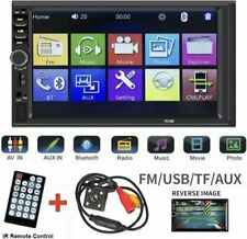 """7"""" Bluetooth Double Din Car Stereo Radio MP5 Player Backup Rear View Camera New"""