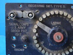 Signal Corp Receiver Type D -1917 -part