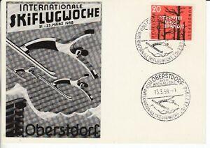 Carte Postale Bayern Werbekarte Oberstdorf Skiflugwoche 1958