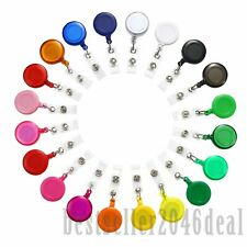 20pcs Badge Holder ID Retractable Reels Clip On Name Card Holder Nurse Lanyard