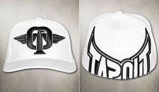 """Tapout -  """"Front FIght"""" Men's Embroidered Panel Hat, White/Black, L-XL"""
