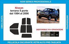 pellicola oscurante vetri compatibili con Nissan terrano 3p dal 1994-06 post