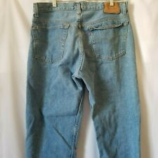 Levis 501 35x33 Light Wash Vintage Made In USA Denim Jeans Distressed Button Fly