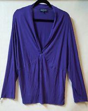 Jones NY Size 3X  Purple Shirt Long Sleeve  Y Neckline Casual