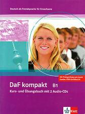 Klett DAF Kompakt B1 Kurs-und ubungsbuch mit 2 Audio CD tedesco per gli adulti @NEW